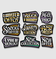 set for sales vector image