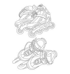 set roller skates vector image