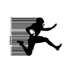 Silhouette football player vector