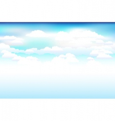Sky and clouds scene vector