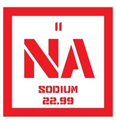 Sodium chemical element vector
