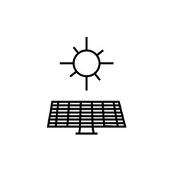 solar panel sun icon vector image