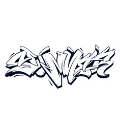 summer graffiti lettering vector image