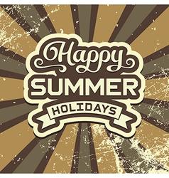 Summer holidays vintage poster vector