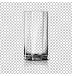 Transparent realistic glass isolated on vector image