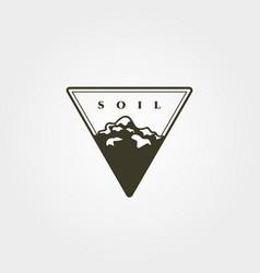 triangle soil icon logo symbol design vector image
