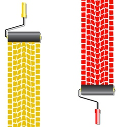 Tyre paint treads vector image vector image