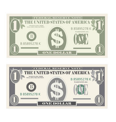usa banking currency cash symbol 1 dollar bill vector image