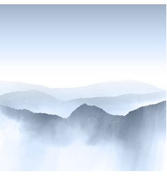 watercolour mountain landscape vector image