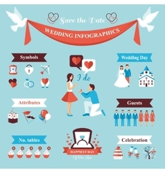 Wedding Infographics Set vector