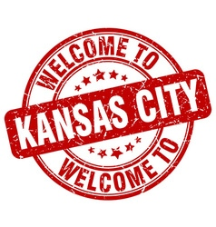 welcome to Kansas City vector image