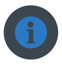 Information flat smooth blue colors round button vector image