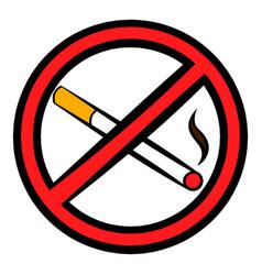 no smoking sign icon icon cartoon vector image