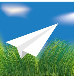 origami airplane vector image vector image