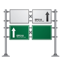 road Signs green vector image