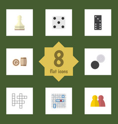Flat icon games set of bones game lottery vector