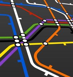 metro scheme on black vector image vector image