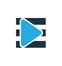 playlist colorful icon symbol premium quality vector image vector image