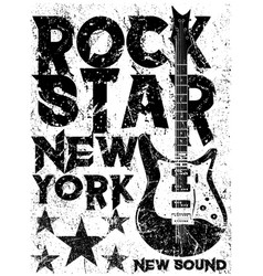 rock star vintage rock and roll typographic for vector image vector image