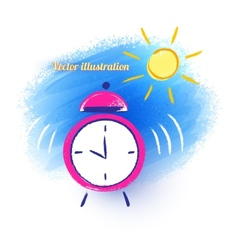 Alarm clock and morning sun vector image