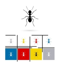 Ant silhouette icon vector image vector image
