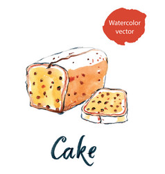 cake with raisins vector image vector image