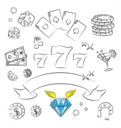 casino graphics vector image vector image