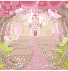 Magic Castle Landscape vector image