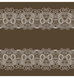 ornament floral background with lace for your desi vector image