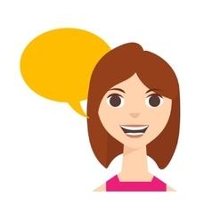 Say Woman vector image