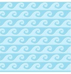 Seamless blue grunge pattern sea waves vector image vector image