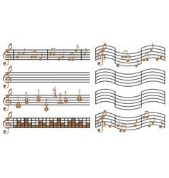 Sheet Music vector image vector image