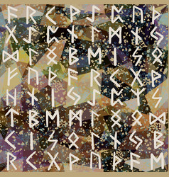 abstract seamless pattern runes grunge texture on vector image vector image