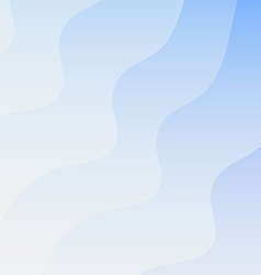 Blue abstract smooth waves creative background vector image