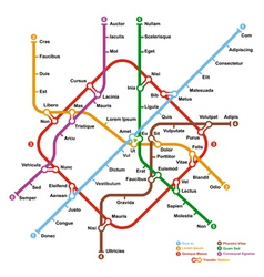 Fictional metro map vector image vector image