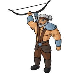 medieval hunter vector image vector image