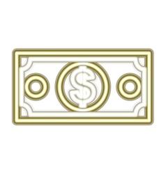 Neon money bill icon vector