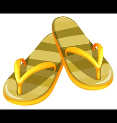 A pair of yellow sandals vector