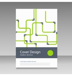 Abstract piping pattern cover design vector