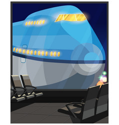 airliner at night vector image
