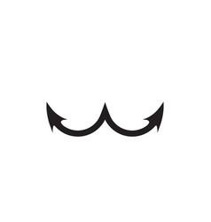 anchor w letter logo design concept vector image
