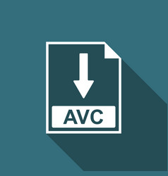 avc file document icon download avc button icon vector image