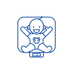 baby on scales line icon concept baby on scales vector image
