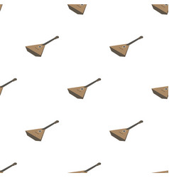 balalaika icon in cartoon style isolated on white vector image