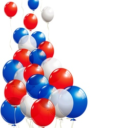 Balloons in white blue and red vector image
