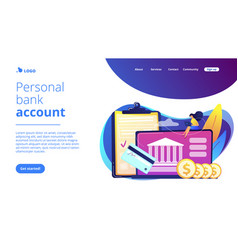 bank account concept landing page vector image