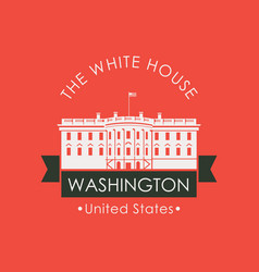 Banner with the white house in washington dc usa vector