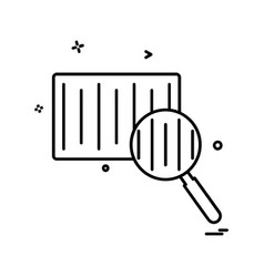 barcode scanner icon design vector image