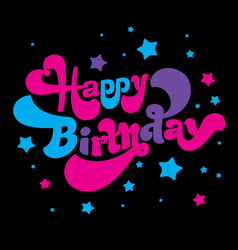 birthday greeting card image vector image