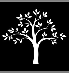black and white tree vector image